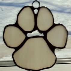 """Stained Glass - Project 4 """"Wolf Paw"""" given as a Christmas gift"""