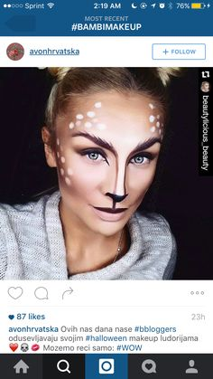 christmas costumes deer Bambi Halloween Makeup Tutorial - Laurens Lip Glossary by Lauren Will Bambi deer halloween makeup Deer Halloween Makeup, Halloween Looks, Couple Halloween, Reindeer Makeup, Deer Costume Makeup, Deer Costume Diy, Faun Makeup, Costume Ninja, Halloween Night