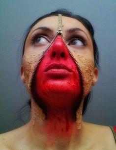 Halloween Makeup Unzipped face Halloween Face Makeup