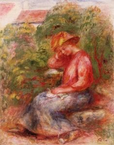 Woman in a Red Blouse - Pierre Auguste Renoir - The Athenaeum