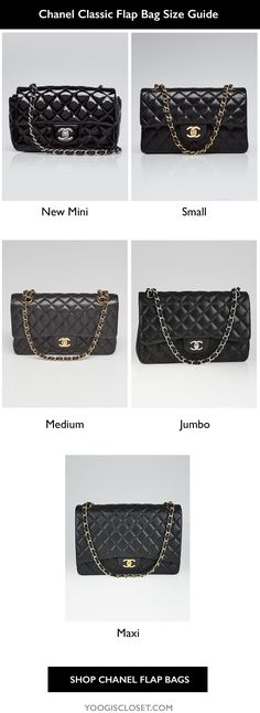 ded5825132bb The Iconic Chanel flap bag comes in five sizes  New Mini