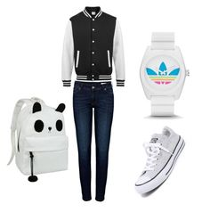 """""""Untitled #92"""" by amna-hakeem on Polyvore featuring Anine Bing, Converse and adidas"""