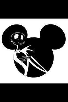 Mickey and Jack Skellington shirt by Mem0598 on Etsy