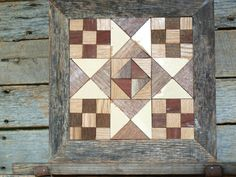 barn quilt block salvaged wood barn quilt by IlluminativeHarvest, $69.99