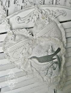 vintage bird heart by Viola @ Shabby Chic Inspired