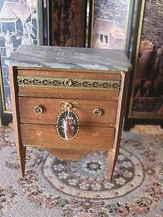 FRENCH HANDPAINTED DRESSER DOLLHOUSE MINIATURE FAUX MARBLE