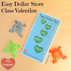 Easy DIY Printable Class Valentine's Day Cards from lalymom