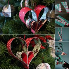 Easy Hearts - 20 Hopelessly Adorable DIY Christmas Ornaments Made from Paper