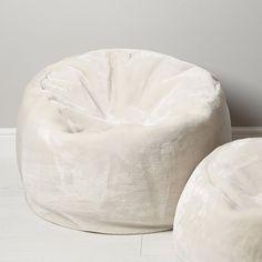 Luxury Faux Fur Beanbag - Large