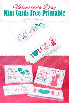 Valentine's Day Mini Cards Free Printable