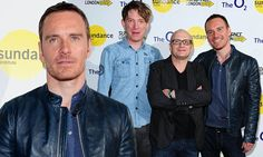 Michael Fassbender wears blue leather jacket to the Frank screening http://dailym.ai/1fbHrUx