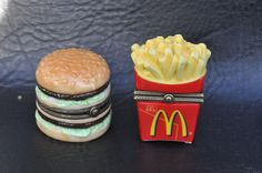 PHB Collection Trinket Box McDonald's French Fries & Big Mac  Trinket Boxes