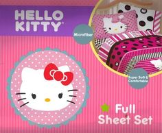 Hello Kitty Beautiful Dots Full Sheet Set Bedding Pink ** Be sure to check out this awesome product.
