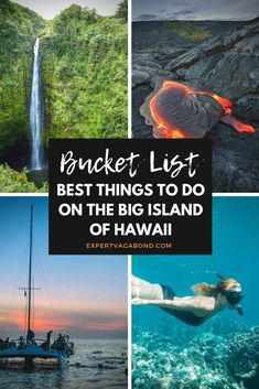 Things To Do On The Big Island Hawaii! How many of these adventures can you knock off your bucket list? Things To Do On The Big Island Hawaii! How many of these adventures can you knock off your bucket list? Hawaii Vacation, Hawaii Travel, Beach Trip, Travel Usa, Hawaii Usa, Hawaii Hikes, Travel Tips, Vacation Ideas, Travel Ideas