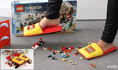 Lego has created extra-padded slippers to protect parents' feet against the tiny bricks. Currently only 1,500 are available of the square slippers, which you can get by making a wish list on Lego France.