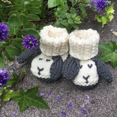 A new photo of my Little Sheep Booties knitting pattern