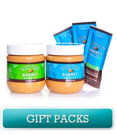Barney Butter  Almond Butter comes in squeeze packs.  Great for camping, snacks.