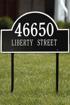Arch Two-Line Estate Lawn Address Plaque - estate/two line, Black by Home Decorators Collection. $150.00. Arch Two-Line Estate Lawn Address Plaque - It's Your Own Little Corner Of The World - So Why Not Mark It With Pride? A House Sign Announces A Message Of Distinction. These Premium, Textured And Dimensional Address Plaques Are Designed With Large Letters And Numbers For Maximum Visibility. Choose From Our Exceptional Array Of Custom Address Plaques To Find The House Sign T...