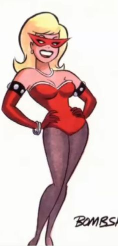 Another of my favourite desings that was never used is Bombshell, she has such a classic super villian look I love it! By Bruce Timm.