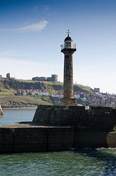 I have walked to this lighthouse many times! North Yorkshire, Yorkshire England, Yorkshire Dales, England Uk, Oh The Places You'll Go, Cool Places To Visit, Whitby Abbey, 6 Photos, English Countryside
