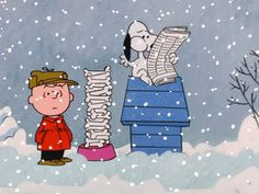 Image result for snoopy catching snow gif