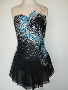 CUSTOM ICE SKATING DRESS BATON TWIRLING COSTUME