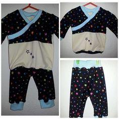 Baby Kombi Gr. 56 bunte Sterne von MiniDreams auf DaWanda.com