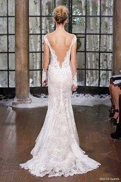 Low Back Lacey Couture Wedding Gown - Sometimes Serious - We Dig It Wednesday