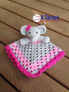 Ravelry: Elephant Lovey Security Blanket pattern by Carolina Guzman