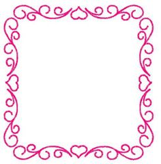 Embroidery Patterns Embroidery Design: Heart Frame 4.30 inches H x 4.20 inches W