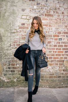 Ankle Booties Outfit, Brown Ankle Boots Outfit, Cute Ankle Boots, Brown Booties, Long Boots, High Boots, Stylish Outfits, Winter Outfits, Fashion Outfits