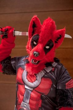 Deadpool fursona!!!! OH MAH GERSH I WUFF (LOVE) IT!                                                                                                                                                                                 More