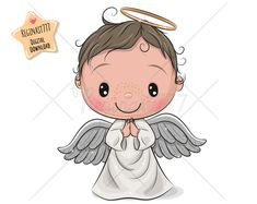 Illustration about Cute Cartoon Christmas angel boy isolated on white background. Illustration of holly, decor, illustration - 172389946 Cartoon Cartoon, Angel Cartoon, Angel Clipart, Angel Drawing, Typography Prints, Nursery Prints, Christmas Angels, Cute Drawings, Barbie Dolls