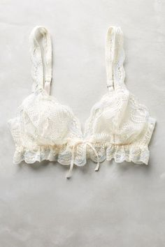 Eberjey Ruffled Bralette - anthropologie.com #anthroregistry
