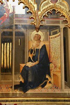 Lorenzo Monaco - Vergine annunciata, dettaglio Annunciazione Salimbeni (Pala d'altare) - c.1425 -Cappella Bartolini Salimbeni - Firenze, Basilica di Santa Trìnita