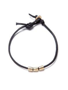 Me & Ro Gold Three Bead Bracelet