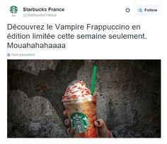 Great Twitter post from Starbucks in Paris, France / Sympathique post Twitter  de Starbucks à Paris, France https://twitter.com/StarbucksFrance/status/658547885689049088