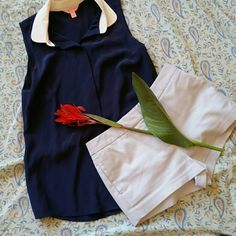 New! Lilly Pulitzer 100% Silk Sleeveless Blouse Simply gorgeous! There's a snap near the top button just in case...oops! 100% silk. Navy blue and white. Gently worn once. Lilly Pulitzer Tops Button Down Shirts