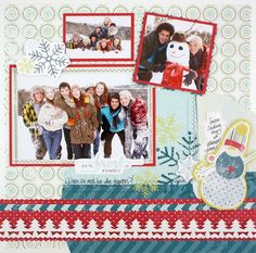 Fun Frost & Family Winter Additions Scrapbook Layout Page Idea