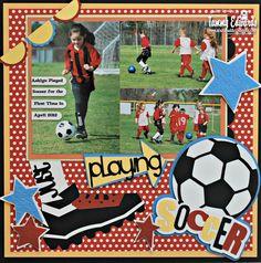 Just Playing Soccer - Scrapbook.com