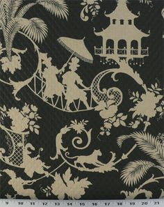Palm Palace Onyx - Indoor / Outdoor | Online Discount Drapery Fabrics and Upholstery Fabric Superstore!