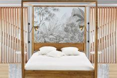 Diseñar un dormitorio de ensueño Feng Shui, Bed, Furniture, Home Decor, Floor Length Mirrors, Body Mirror, Wood Slats, Vaulted Ceilings, Gas Fireplaces