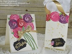 Crafts Bouquet: Stampin'Up Swirly Bird Birthday Card and Gift Bag