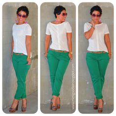 Fashion, Lifestyle, and DIY: Gap Green Khaki's & DIY Top + Updates