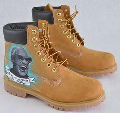 Custom Ray Charles & Stevie Wonder Timberland Boots