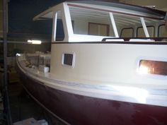 Gorgeous lobster boat being converted into a yacht!
