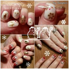 Christmas nails by Tampsi's and nails by Kelly