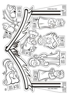 Nativity CP or cut outs Preschool Christmas, Christmas Nativity, Christmas Activities, Christmas Crafts For Kids, Xmas Crafts, Christmas Colors, Christmas Holidays, Nativity Coloring Pages, Christmas Coloring Pages