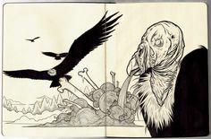 Plague of Buzzards Moleskine by Scumbugg
