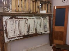 Old door repurposed by Jay Lotz